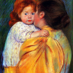 100% Hand Painted Oil on Canvas - Cassatt Mary - Maternal Kiss 1896