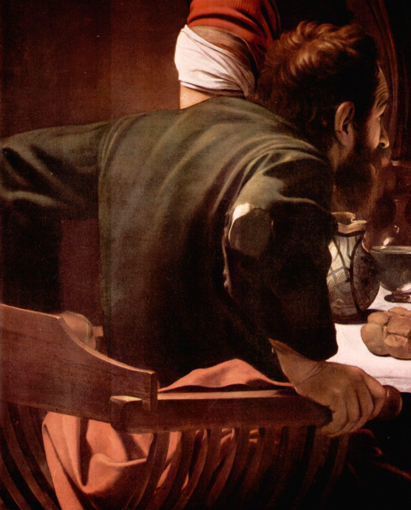 The Museum Outlet - Christ in Emmaus, detail - Disciples of Christ [1] by Caravaggio