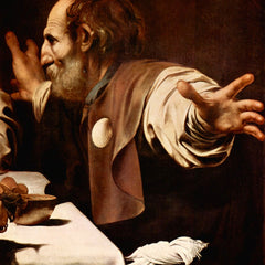 The Museum Outlet - Christ in Emmaus, detail - Disciples of Christ [2] by Caravaggio