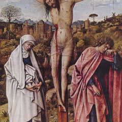 The Museum Outlet - Christ on the cross between Mary and John by Jan Van Eyck
