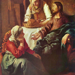 The Museum Outlet - Christ with Mary and Martha by Vermeer
