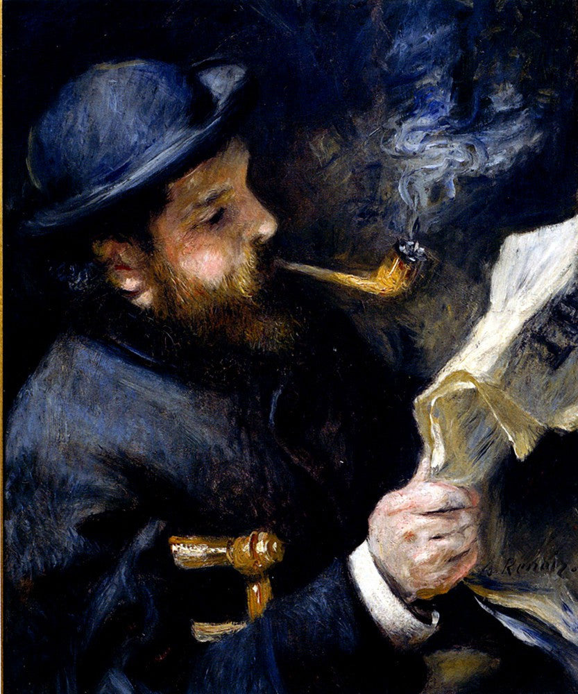 The Museum Outlet - Claude_Monet_Reading_A_Newspaper
