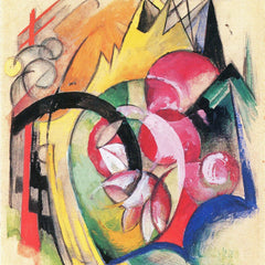 The Museum Outlet - Colored flowers by Franz Marc