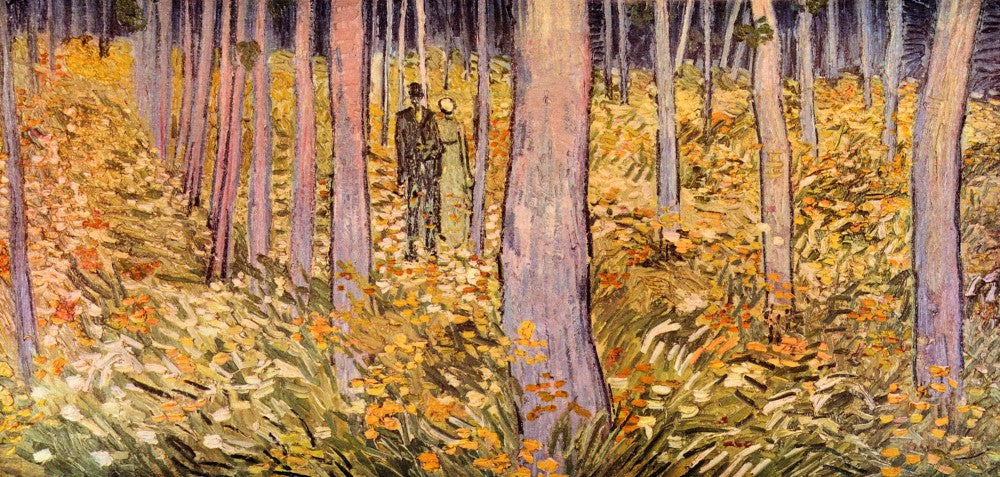 The Museum Outlet - Couple walk in the woods by Van Gogh