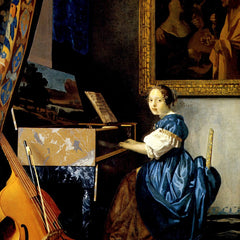 The Museum Outlet - Dame on spinet by Vermeer