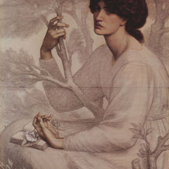 100% Hand Painted Oil on Canvas - Dante Rossetti - Daydream