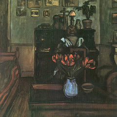 The Museum Outlet - Dawn in an intimate room by Joseph Rippl-Ronai