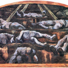 100% Hand Painted Oil on Canvas - Dead victims, design (II) by Albin Egger-Lienz