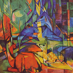 The Museum Outlet - Deer in Forest by Franz Marc