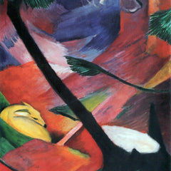 The Museum Outlet - Deer in the forest II by Franz Marc