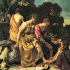 The Museum Outlet - Diana and her nymphs by Vermeer