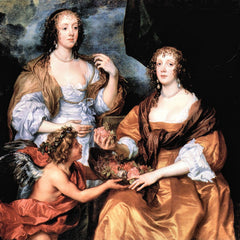 The Museum Outlet - Elizabeth Thimbleby and Dorothy Viscountess Andover by Van Dyck