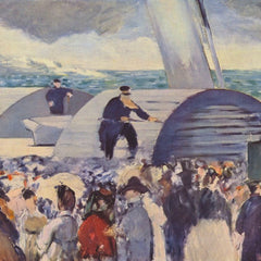 100% Hand Painted Oil on Canvas - Embarkation of the Folkestone by Manet
