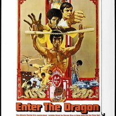Reproduction of a poster presenting - Enter The Dragon 001 - A3 Poster Print Buy Online