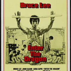 Reproduction of a poster presenting - Enter The Dragon 008 - A3 Poster Print Buy Online