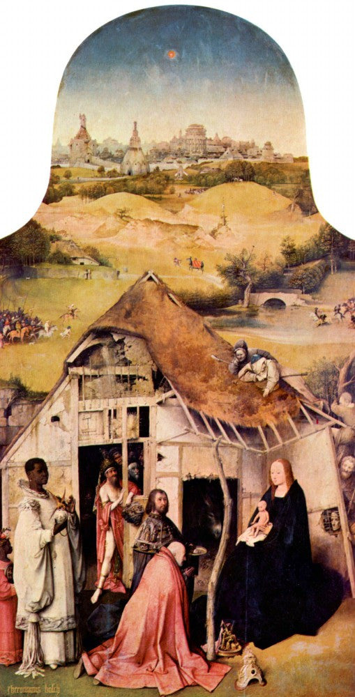 The Museum Outlet - Epiphany-triptych - Adoration of the Magi by Bosch