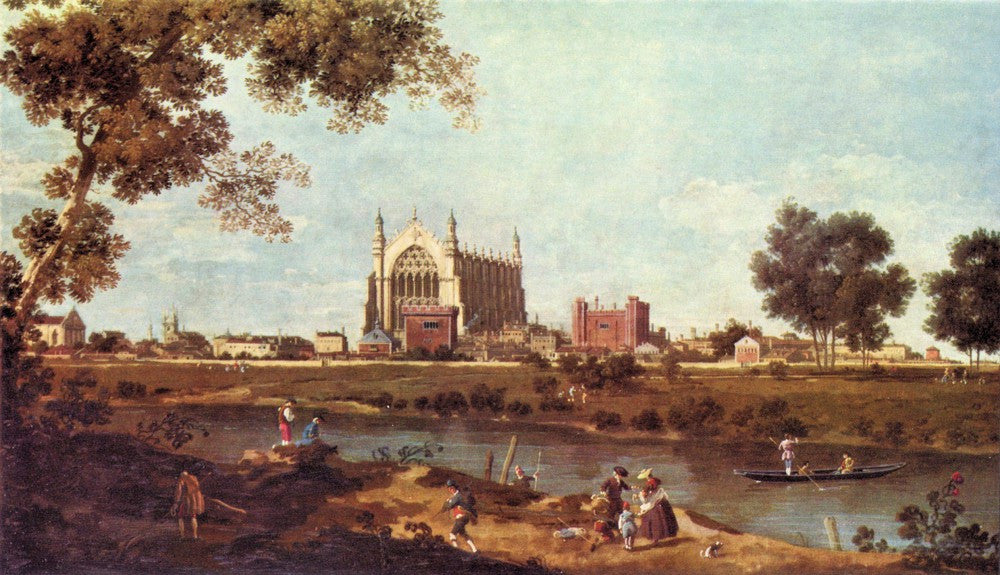 100% Hand Painted Oil on Canvas - Eton College by Canaletto
