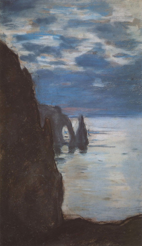 100% Hand Painted Oil on Canvas - Etretat by Monet