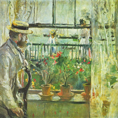 100% Hand Painted Oil on Canvas - Eugene Manet on the Isle of Wight by Morisot