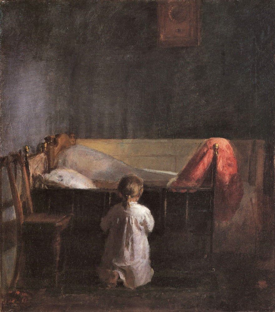 100% Hand Painted Oil on Canvas - Evening Prayer by Anna Ancher