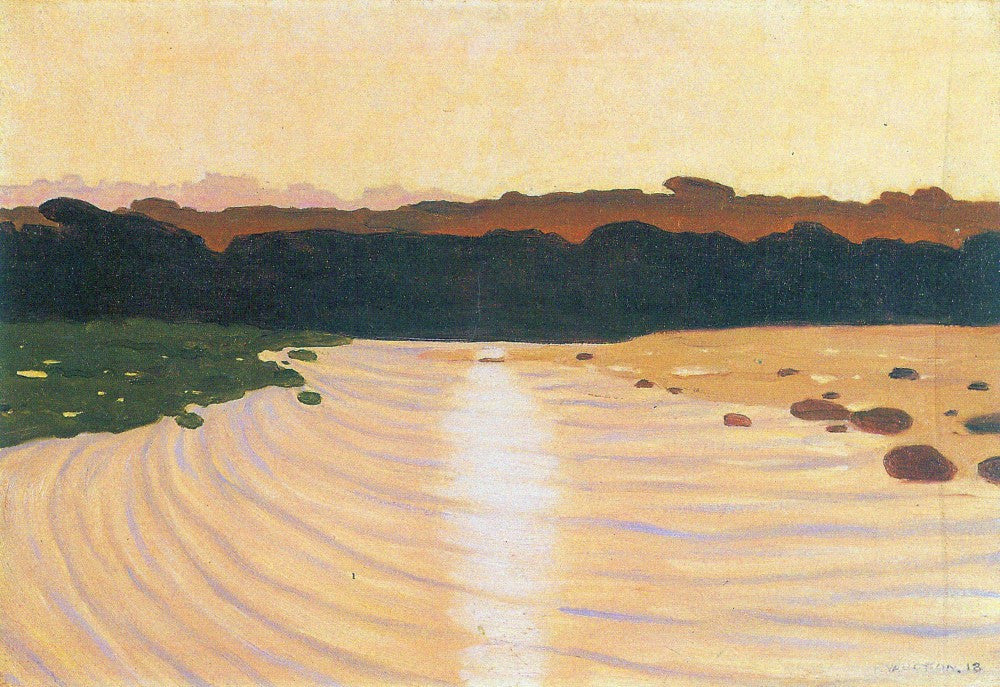 100% Hand Painted Oil on Canvas - Evening scene by Felix Vallotton