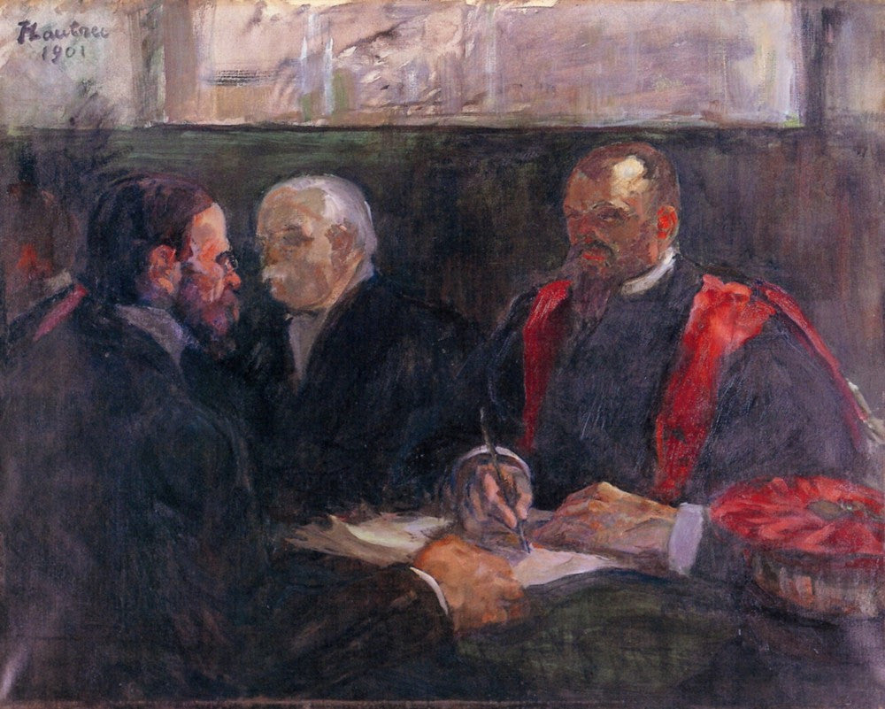 100% Hand Painted Oil on Canvas - Examination on the academy of medicin by Toulouse-Lautrec