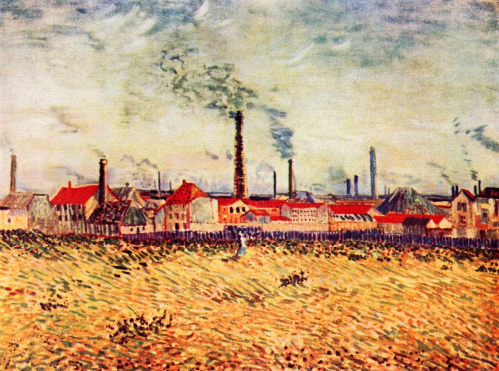 100% Hand Painted Oil on Canvas - Factories by Van Gogh