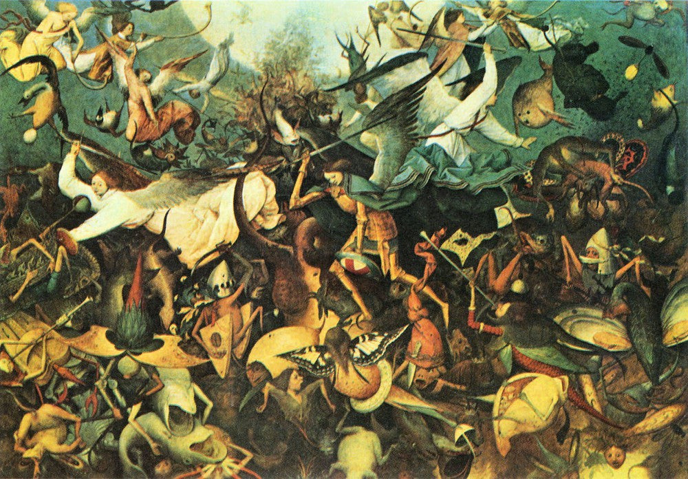 100% Hand Painted Oil on Canvas - Fall of the Angelsby Pieter Bruegel