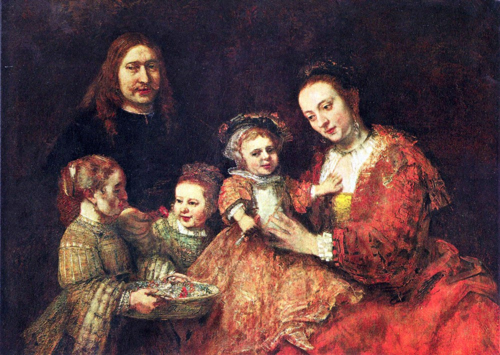 100% Hand Painted Oil on Canvas - Family Portrait by Rembrandt