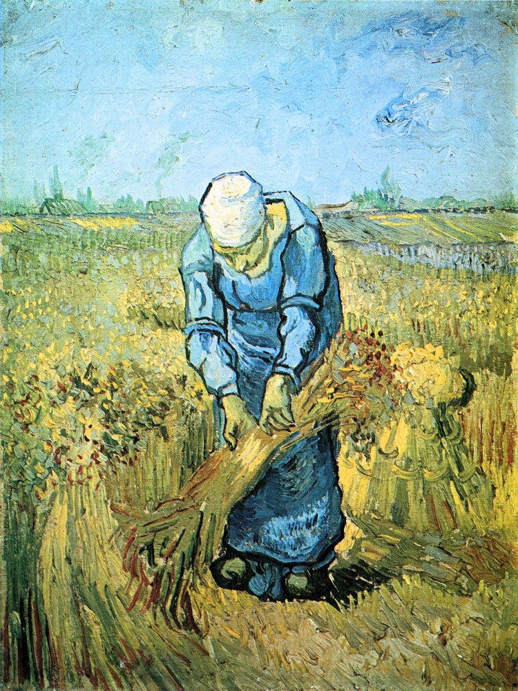 100% Hand Painted Oil on Canvas - Farm worker by Van Gogh