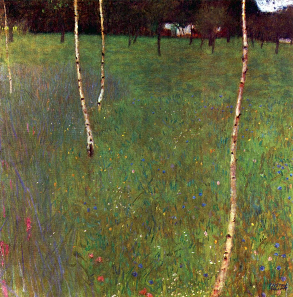 100% Hand Painted Oil on Canvas - Farmhouse by Klimt