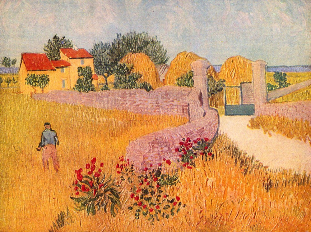 100% Hand Painted Oil on Canvas - Farmhouse in Provence by Van Gogh