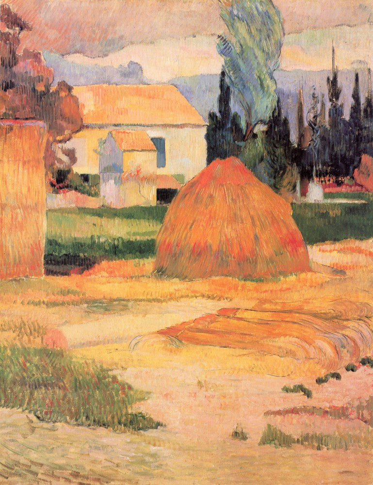 100% Hand Painted Oil on Canvas - Farmhouses in Arles by Gauguin