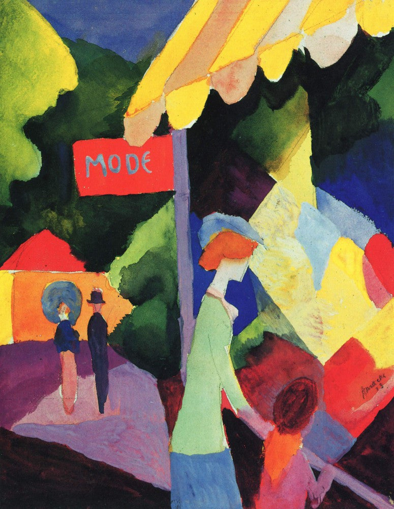 100% Hand Painted Oil on Canvas - Fashion window by Macke