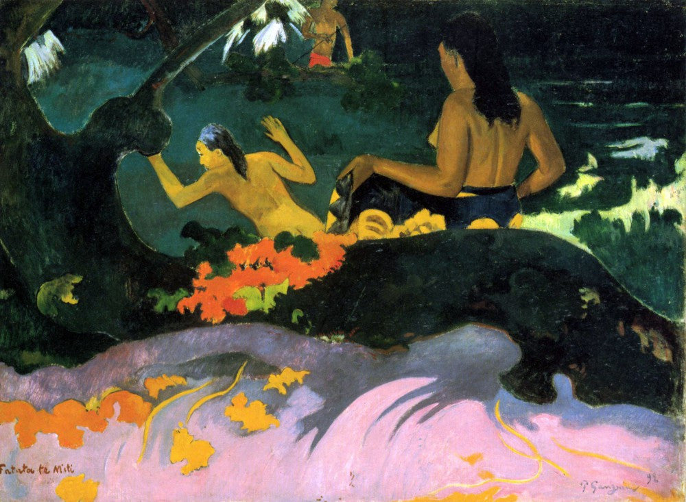 100% Hand Painted Oil on Canvas - Fatata Te Miti by Gauguin