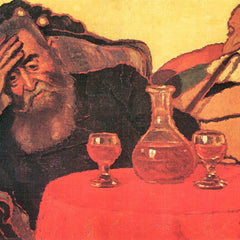 The Museum Outlet - Father and uncle with the red wine  by Joseph Rippl-Ronai