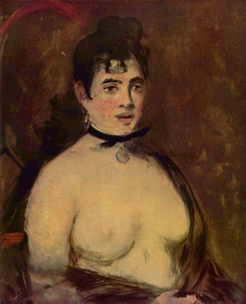 100% Hand Painted Oil on Canvas - Female act by Manet
