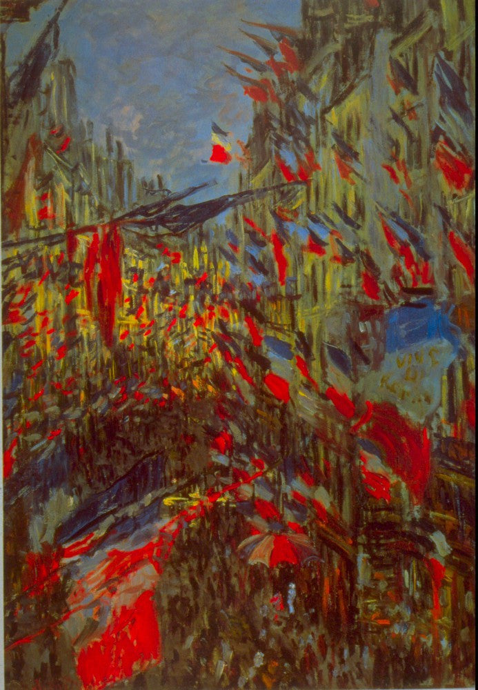 100% Hand Painted Oil on Canvas - Festivities by Monet