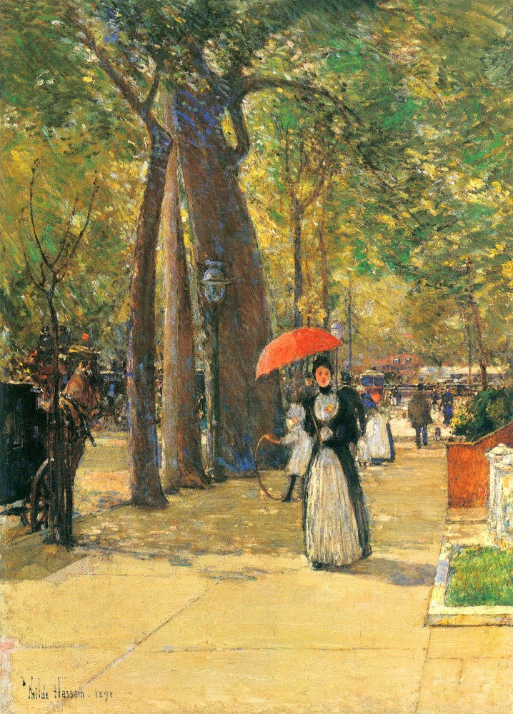 100% Hand Painted Oil on Canvas - Fifth Avenue and Washington Square by Hassam