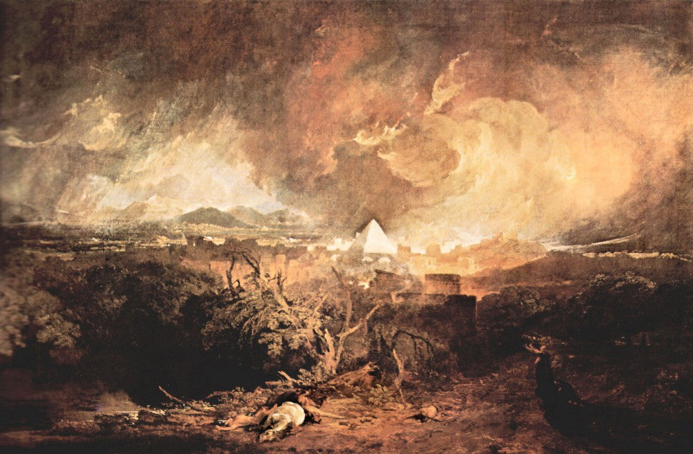 100% Hand Painted Oil on Canvas - Fifth plague of Egypt by Joseph Mallord Turner