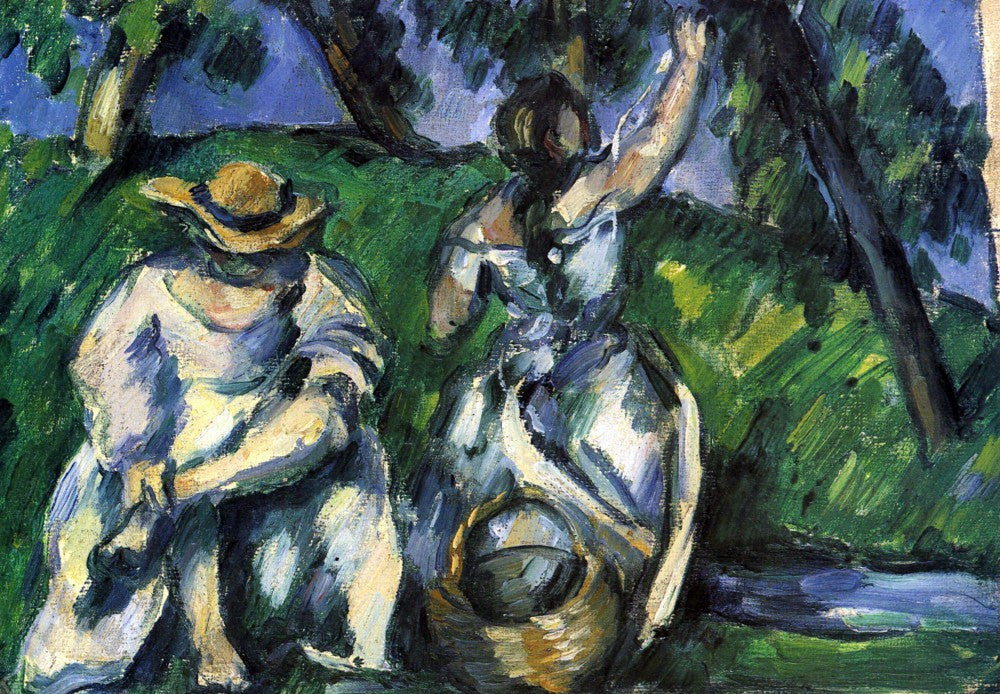 100% Hand Painted Oil on Canvas - Figures by Cezanne