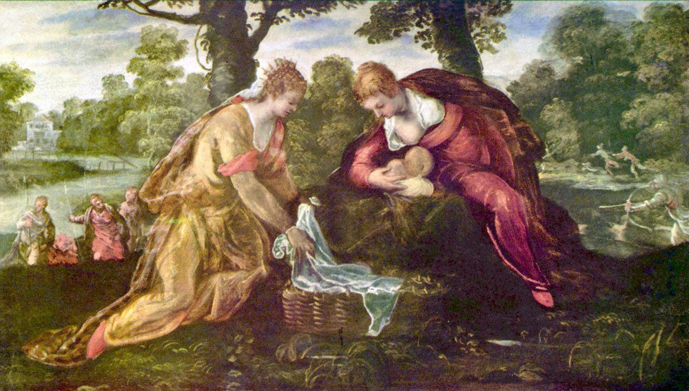 100% Hand Painted Oil on Canvas - Finding of Moses by Tintoretto