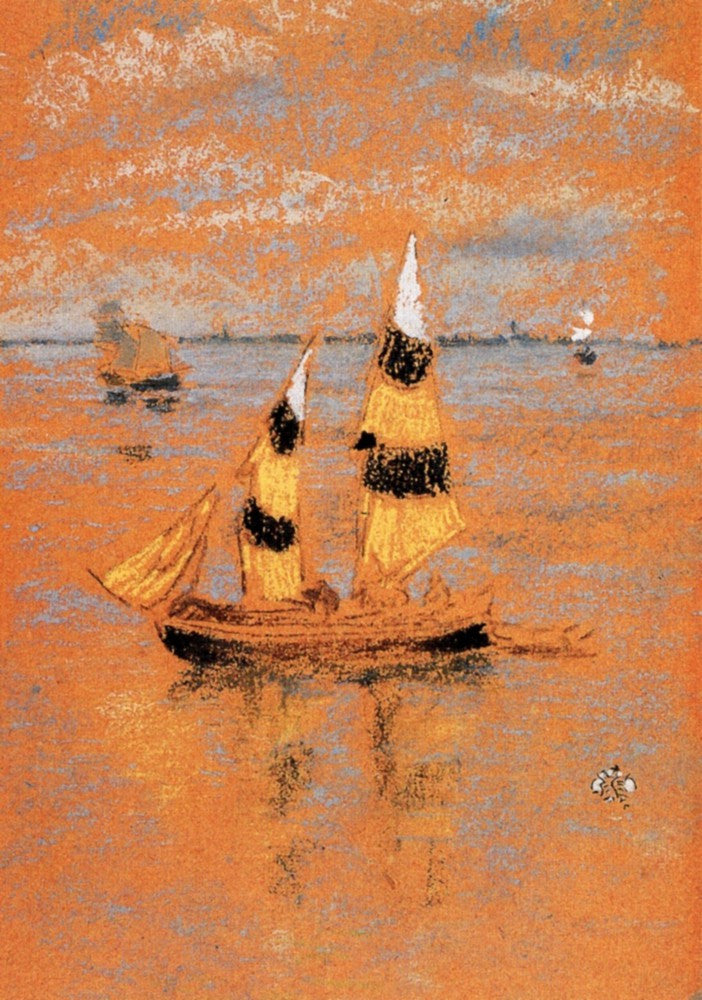 100% Hand Painted Oil on Canvas - Fishing Boats by Whistler