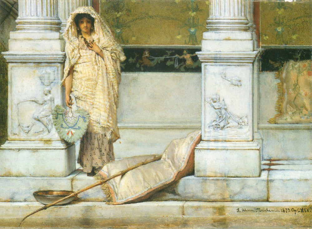 100% Hand Painted Oil on Canvas - Fishing by Alma-Tadema