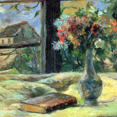 The Museum Outlet - Flower Vase in Window by Gauguin