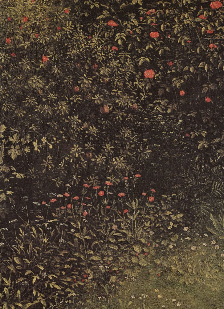 100% Hand Painted Oil on Canvas - Flowering shrubs and plants by Jan Van Eyck