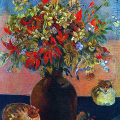 The Museum Outlet - Flowers and Cats by Gauguin