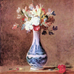 The Museum Outlet - Flowers in a Vase by Jean Chardin