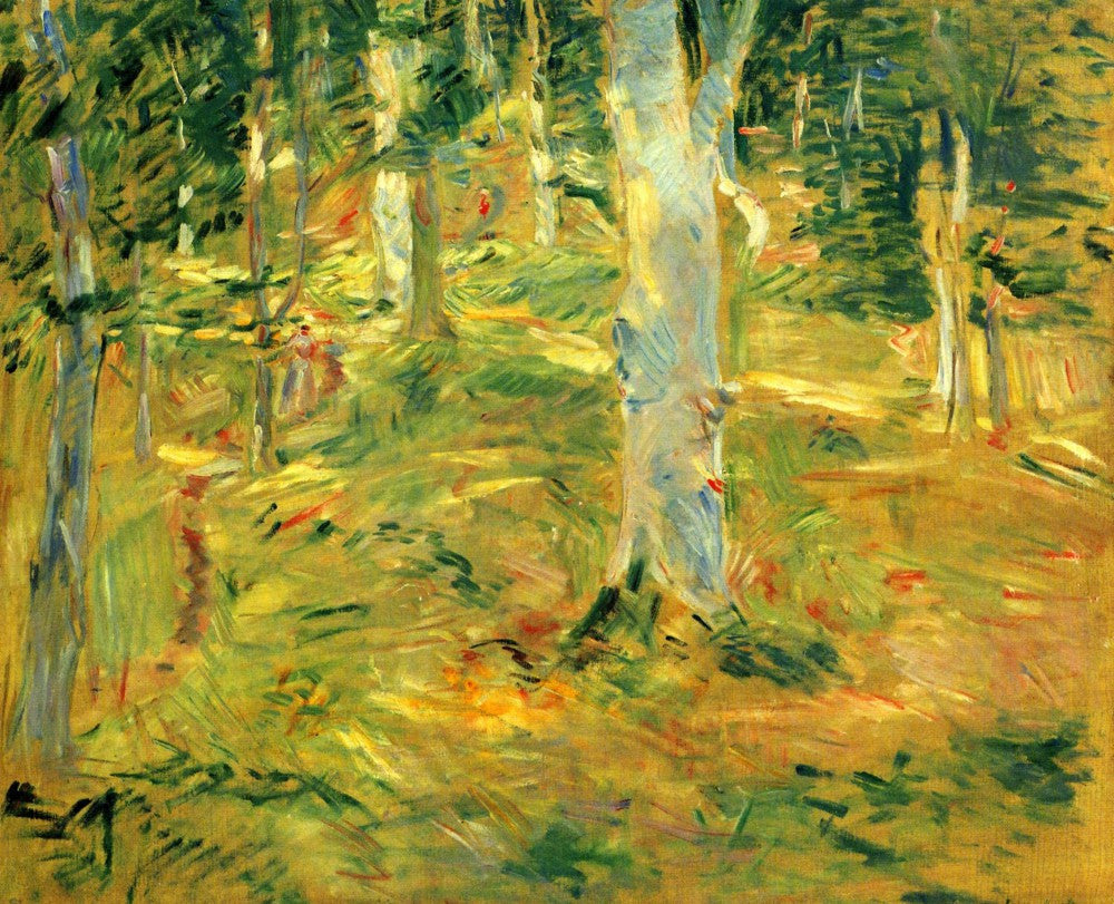 100% Hand Painted Oil on Canvas - Forest of Compiegne by Morisot