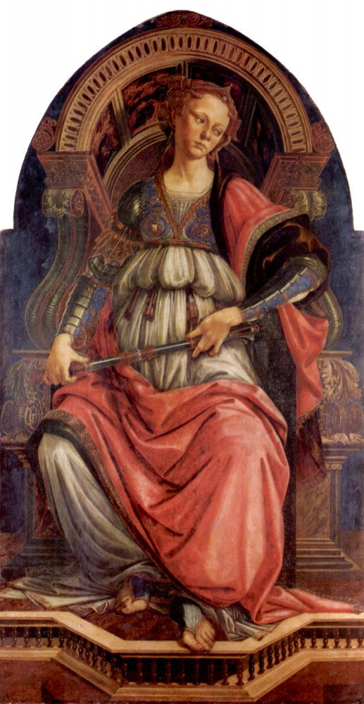 100% Hand Painted Oil on Canvas - Fortitude by Botticelli